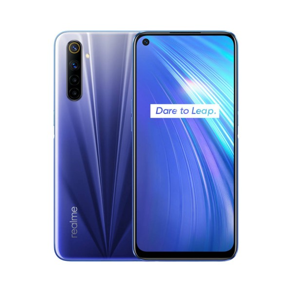 Realme 6 comet blue 4g dual sim 6.5'' ips fhd+/8core/128gb/4gb ram/64+8+2+2mp/16mp
